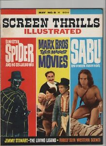 Screen Thrills Illustrated #8 - Marx Brothers Jimmy Stewart- 1964 (Grade 7.0) WH