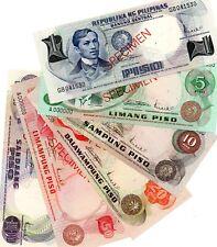 PHILIPPINES 1969-70 Complete Set of Pilipino Specimen Banknotes P142 -P151