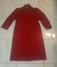 CASSIDY HAND TAILORED RED WOOL COAT VINTAGE SIZE 12 MADE IN THE USA
