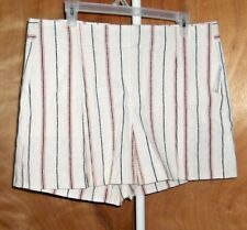 WOMEN SIZE 14 ( GAP ) SHORTS    RED .WHITE.AND BLUE STRIPED NWT