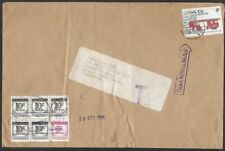 MALAYSIA 1988 cover ex Singapore with postage dues returned to sender......10065