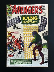 AVENGERS #8 (1963) 1st App Kang! VG- Huge Key Marvel Book!! Iron Man! Thor!