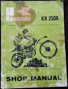 KAWASAKI KX250A  Moto X bike - SHOP MANUAL Original Book 1975 Japan