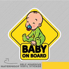 Baby On Board Small Smiling Vinyl Sticker Decal Window Car Van Bike 2817