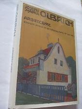 Joseph Maria Olbrich Architecture US HC (1988) Complete Reprint 1901-14 Plates