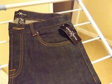 "Men's NEW Marc Ecko raw indigo blue jeans parisian slim fit 36"" x 32"" logo patch"