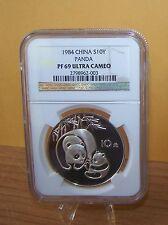 1984 China  Silver Proof Panda--NGC PF 69 Ultra Cameo--10 Yuan