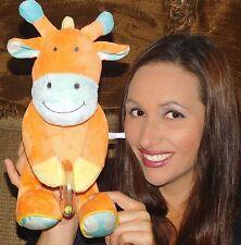 "Manhattan Toy GIRAFFE 14"" Plush Orange Beads Animal Baby Toy BEAN BOTTON LOVEY"