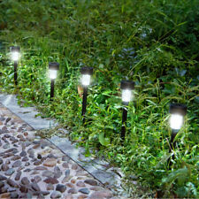 10PCS Solar Power Outdoor Path Light Spot Lamp Yard Garden Lawn Landscape White