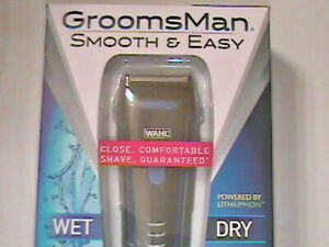 Brand New In Box! WAHL GROOMSMAN MEN'S SHAVER Smooth & Easy --- Wet & Dry #7063