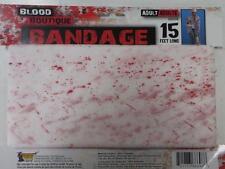BLOOD BANDAGE - Creepy Halloween Horror fake blood Bandage 4.57m x 10cm