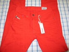 MEN'S DIESEL DARRON Bright  RED TAPERED JEANS 29x32 New