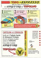 """Cartolina Pubblicitaria_TOPO-ESPRESSO_Abbonamenti """"ANNO D'ORO"""" 1992/93_Perfetta*"""