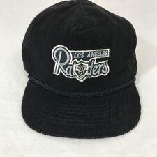 Los Angeles Raiders Vintage Corduroy Hat GUC Braid NFL Otto Cap Slideback 24a387418553