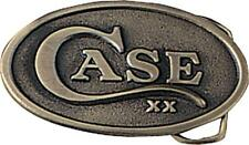 Case 934 Oval Belt Buckle Brass Construction W/ Embossed Case XX Logo Shield 3