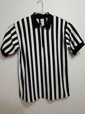 In Your Face Athletic Apparel Referee Shirt Short Sleeve Jersey Zip Xl New Zebra