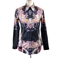 Etro Paisley Print Multicolor Buttoned Up Long Sleeve Shirt Womens Size 42 (M)