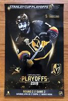 Las Vegas Golden Knights Stanley Cup Playoffs Poster 4/28/18 Round 2 Game 2