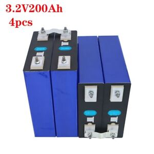 2021 New 4PCS 3.2V200AH LIFEPO4 4000 cycle Rechargeable Batteries