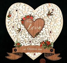 Htf Papyrus Christmas For A Love Heart Birds X -Large Greeting Card W/ Tracking