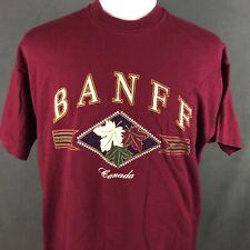 Banff National Park Canada Vintage 90s T-Shirt XL Single Stitch Nature Hiking
