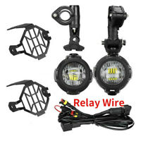 40W LED Motorcycle Auxiliary Fog Light Driving Lamps Set For BMW R1200GS F800GS