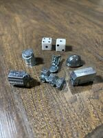 Monopoly City Game Compete Set 6 Metal Tokens & 2 Dice Replacement Pieces Parts