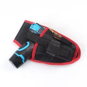 Drill Holster Cordless Belt Tool Holder Pouch Leather Heavy Duty Bag Clc Bit New