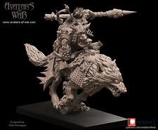 Avatars Of War 3D Printed miniature Gobelin sur loup 4