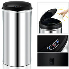 Automatic Sensor Kitchen Waste Dust Trash Rubbish Stainless Steel 50L Auto Bin