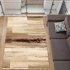 Teppich Stylisch Modern Wohnzimmer Designer Kurzflor Beige meliert 7 Größen