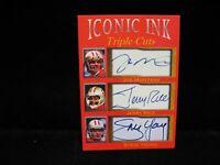 Joe Montana  Jerry Rice  Steve Young  49ers Iconic Ink Triple Cuts