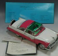 FRANKLIN MINT 1955 FORD FAIRLANE CROWN VICTORIA PINK 1:24 SCALE MINT CONDITION
