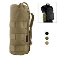 Durable Open Tactical Military Drawstring  Mesh Bottom Water Bottle Holder~'