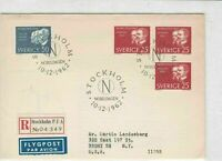 sweden 1962 stamps cover ref 19559