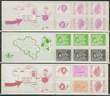 """Belgique België, 3 Carnets de timbres """"Roi Baudouin"""" neufs MNH, bien"""