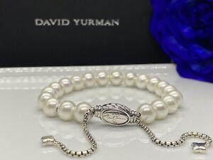 DAVID YURMAN Spiritual Bead Bracelet Sterling Silver With Freshwater Pearl