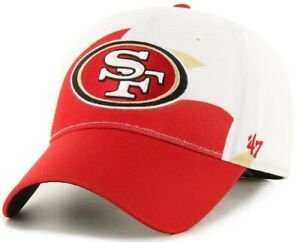 San Francisco 49ers NFL '47 Wave Solo White Shark Tooth Hat Cap Men OSFA Stretch
