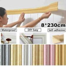Self-Adhesive 3D PVC Pattern Skirting Board Sticker Wall Decals Wall Stickers