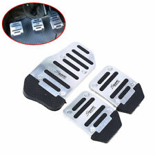Non-Slip Design Aluminum Manual Pedal Brake&Clutch Foot Cover Set Silver White