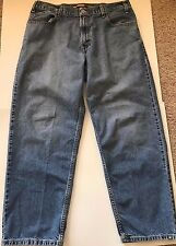 Levi's Vintage BaggySilvertab Faded Blue Denim Jeans Tag 36 x 32 Measure 36 x 31