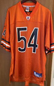 Reebok Chicago Bears Brian Urlacher Jersey Medium Orange #54 Men's SZ L Vintage