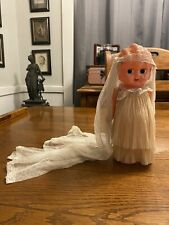 """New listing Vintage 1920's Fashion Kewpie-Style Celluloid Bride Doll - 8 1/2"""" White Gown"""