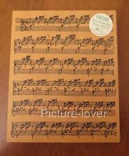 JudiKins Wood Mounted Musical Notes SHEET MUSIC Background Rubber Stamp