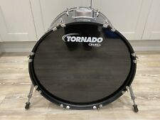 More details for 22 x 16in mapex tornado bass drum in gloss black wrap for drum kit free p&p