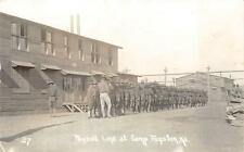 RPPC PAYROLL LINE AT CAMP FUNSTON KANSAS MILITARY REAL PHOTO POSTCARD 1917