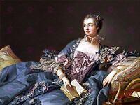 PAINTING BOUCHER ROYAL MISTRESS MADAME POMPADOUR LARGE ART PRINT POSTER LF1597