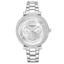 Stuhrling 3908 2 Symphony Quartz Crystal Accented Bracelet Womens Watch