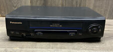 New listing Panasonic Pv-V4021 Omnivision 4-Head Vcr Video Recorder Vhs Player Tested