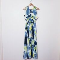 Rachel Gilbert Size 1 AU 8 Small 100% Silk Sweetheart Long Maxi Dress